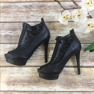 ❤️JUSTFAB BEEP TOE BLACK STILETOS❤️